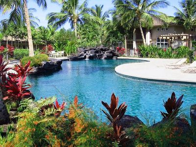 Swim at two Waikoloa Colony Villas pools, BBQ or relax in the bubbling spa