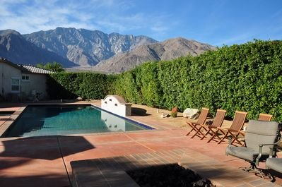 salt water pool with amazing mountain view