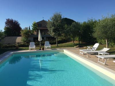 Photo for Villa on Civitanova Marche hills with private pool and sea view