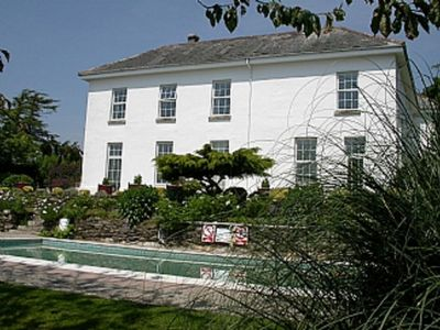 Photo for Fowey Apartment With Outdoor Pool And Gardens In Historic Mansion House