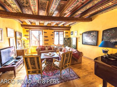 Photo for Marco Polo ***** - luxury & history apartment, 4-8 pers in the heart of Riquewihr