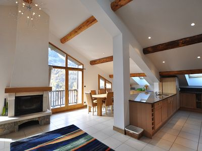 Photo for Le Cochet Penthouse, A Loft-style, Chalet-apartment 20 metres from the ski lift