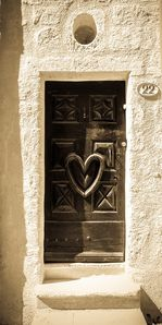 The famous front door of Porte 22: the Heart of Pezenas