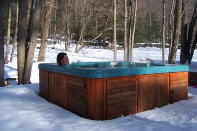 Enjoy the hot tub on a Winter's day