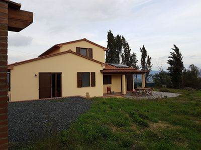 Photo for Tuscan family house in a quiet location with a fantastic view of the valley