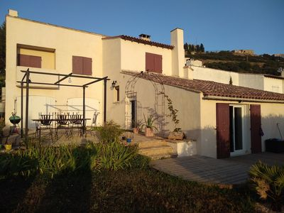 Photo for 140m² house for 8 people in a quiet area, superb view of Mont Ventoux