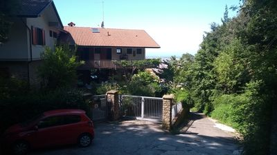 Photo for Beautifully situated country house, panoramic views to the sea, P