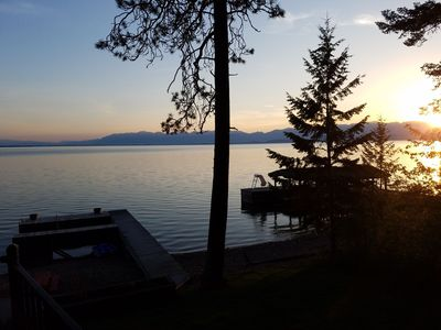Photo for **NEW LISTING*** Flathead Lake House with unobstructed views into Glacier Park