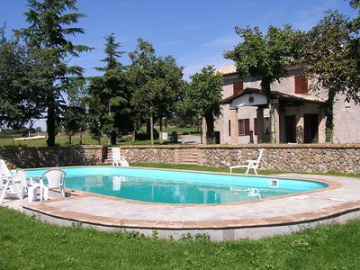 Photo for Villa with private pool between Civita di Bagnoregio and Bolsena Lake