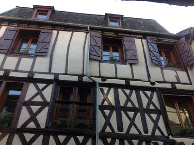 Photo for La Charente, charming apt. centrally located medieval village and walk to river