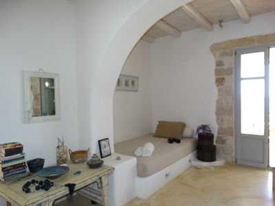 Photo for Faragas-1st Floor Beachfront Villa in Paros