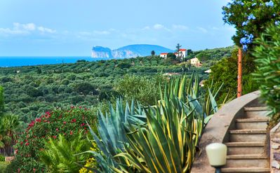 Photo for Near center of Alghero, sea view with air conditioning, for 10/12 people