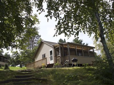 Photo for Beautiful  2-bed lakeside cabin on pristine 100+  acre lake