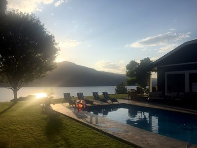 Photo for Pool - Okanagan Dream home - infinite views of Skaha Lake