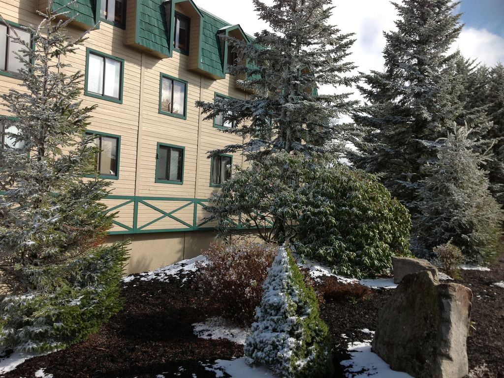 ski-in, ski-out, most convenient complex at snowshoe mountain resort