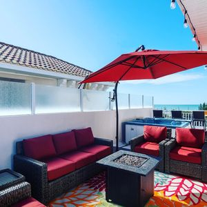 Photo for Social Distance on your own Private Rooftop!!! Hot tub & Grill!!