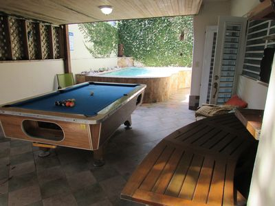 Pool Area with BBQ, Pool Table, radio and more...