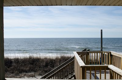 Ocean view off of covered porch