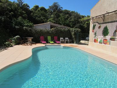 Photo for air-conditioned studio 16 m2 for 2 people in full maquis + swimming pool