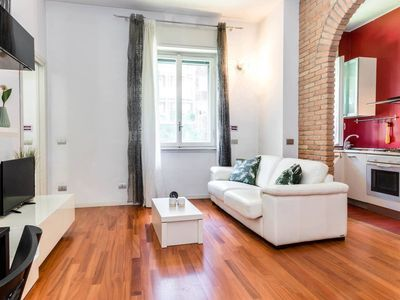 Photo for Chill Central apartment in Navigli with WiFi & air conditioning.