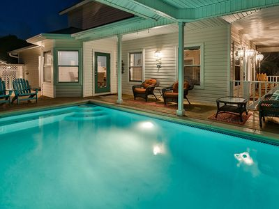 Photo for Amazing Vacation Home in Crystal Beach w/ Private Pool! Steps from Beach!