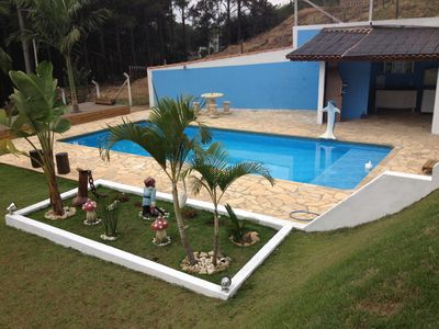 Photo for HOUSE 3 BEDROOMS, SWIMMING POOL 4X9 METERS, POMAR, PLAYGROUND, FIREPLACE AND JOG ROOM