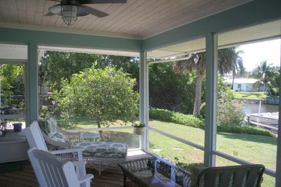 Screened in patio to keep away any critters