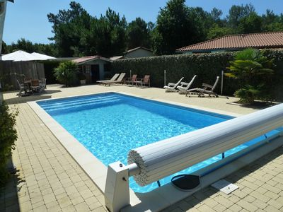 Photo for Andernos (Arcachon Bay) 3 bedrooms 2 bathrooms house with beautiful pool.
