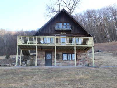 Photo for Rustic, Tranquil,  Cozy Chalet on private 130 acres