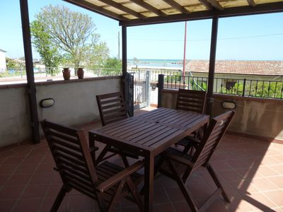 Photo for Seafront apartment on the first floor, with large terrace, in a renovated house