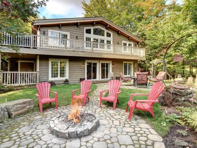 Photo for 2K from pedestrian village, hot tub, fire pit, 5 Bdr,.