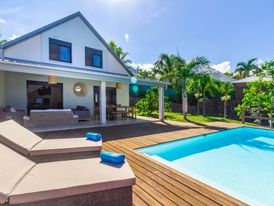 Photo for Villa Elysee - dream villa sea view and pool in Saint-Gilles-Les-Bains
