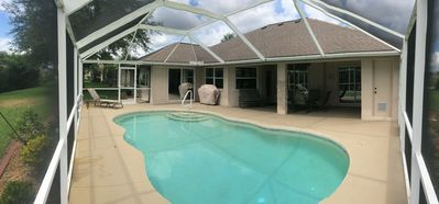 Photo for SPACIOUS 3 BR 2 BA, PET FRIENDLY, HEATED POOL, PRIVATE LANAI