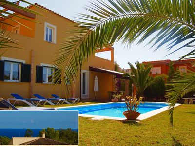 Photo for Spacious Villa, Ocean View, Pool, Clima, WIFI, mediterranean garden, 11 persons