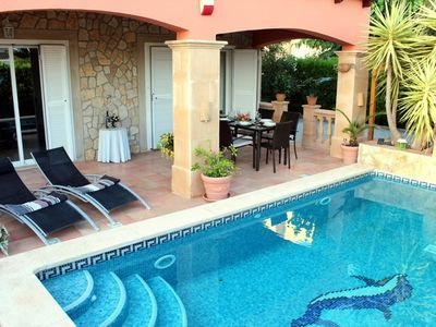 Photo for Romantic, lovingly furnished new villa in the residential area of Badia Gran