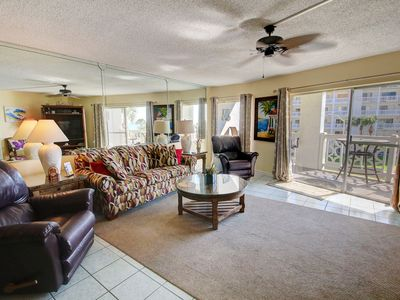 Photo for Lovely Condo w/ Beach View, Pool, Private Balcony, Whirlpool, & More!