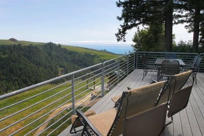 Relax and enjoy sweeping ocean views from the back deck.