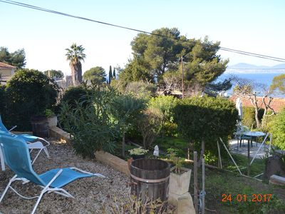 Photo for GITE 4/5 PEOPLE SEA VIEW ON CLOSED GROUND 300 M2 COVERED TERRACE. TT EQUIP