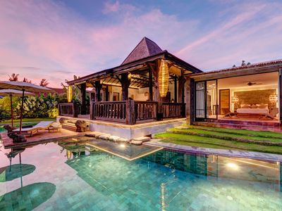 Photo for Secluded Wooden Villa, 3 BR, Canggu w/ staff