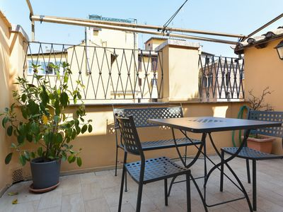 Photo for Relax on a Roof Terrace of a Cosy Flat near the Pantheon