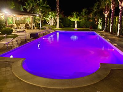 Photo for Villa Palme Pool Chromotherapy Free Wi-Fi Garden, for 10 People Up To 14 People.
