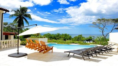 Photo for Exquisite 5-bedroom oceanfront villa in Tamarindo in the famous Playa Langosta