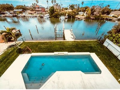 Photo for Flipper's Lagoon   Luxury Waterfront  Pool Home with kayaks and all the toys