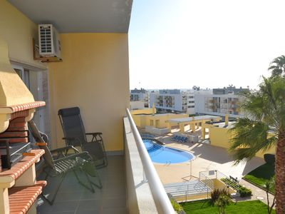 Photo for large swimming pool, sea views, 24hr security, free wifi