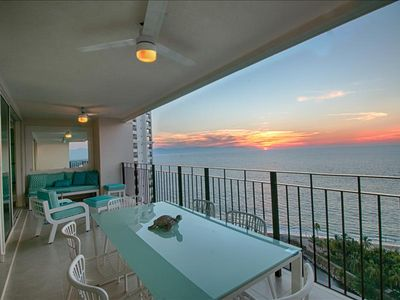 Photo for Bright oceanfront condo with double balcony!