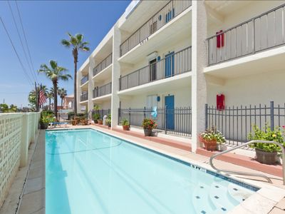 Photo for Charming Beachfront Condo with Pool! Reasonable Rates! Great Location!