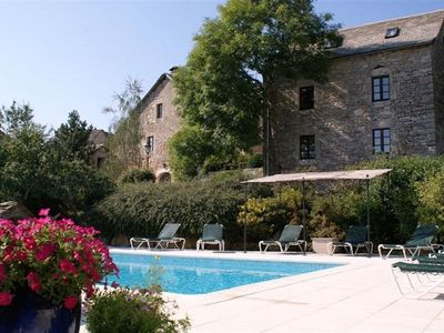 "Photo for Cottage ""The Stables of Sauveterre"" for up to 17 px with park and large pool."