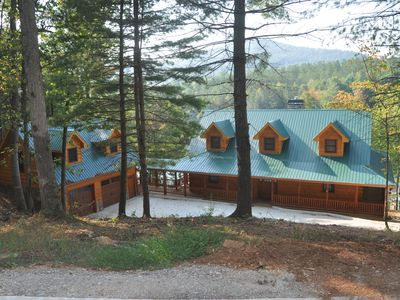 Photo for CANE CREEK LODGE ~ Luxurious Log Cabin on Lake Nottely ~ Sleeps 14