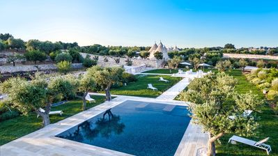 Photo for Renovated Trulli Complex with 3 independent units - private pool -5star services