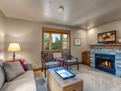 Photo for NEW LISTING! Charming condo w/shared hot tub, fireplace & more- close to skiing!